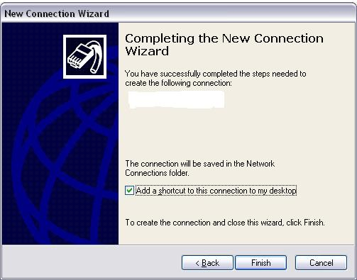 Completing wizard